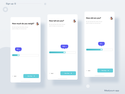 __Mealyoum App 🍲— Sign up /2 sign up sign in meals ux ui ux design ux user interface design user interface user experience uix ui design ui mobile app minimal ios mobile application icon flat feed clean app