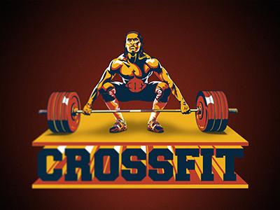 Crossfit Logo weightlifting power muscle man logo health gym fitness bodybuilder body crossfit sport