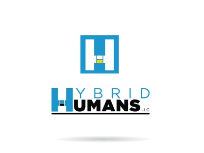 Hybrid Humans Logo Concepts vector logo branding design