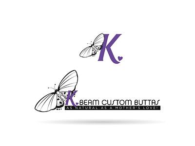 K. Beam Logo Design Concept vector branding design