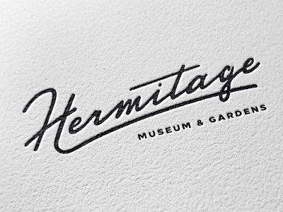 Hermitage Logo (Updated) branding calligraphy script lettering drawn hand type logo typography
