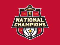 NCAA DII Baskteball Chamions Badge