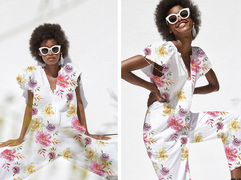 Watercolor floral pattern design II rapport fashion pattern print design flower watercolor
