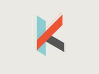 Geometric K Logo Concept
