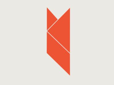 Geometric K Logo Concept 2