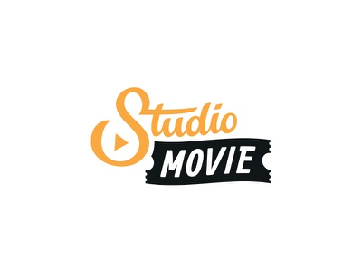 Studio Movie logo type studio ticket cinema movie mark logo branding