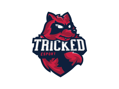 Tricked esport - Mascot raccoon mascot esport logo