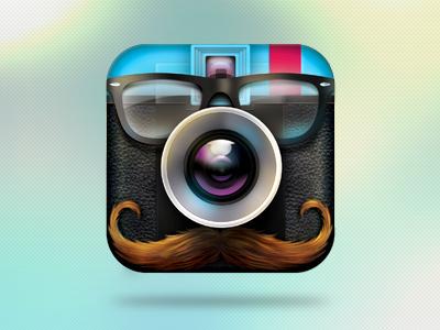 Hipstagram App Icon iphone app icon ux ui ipad photo picture kardashian psd design camera diana hipsta armenia