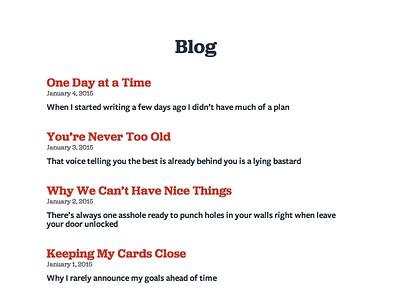 Blog Archive porftolio clean simple site blog archive landing list