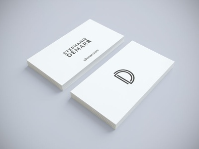 Proj D Card Render logo d landmark logomark mark sans-serif art deco business card render
