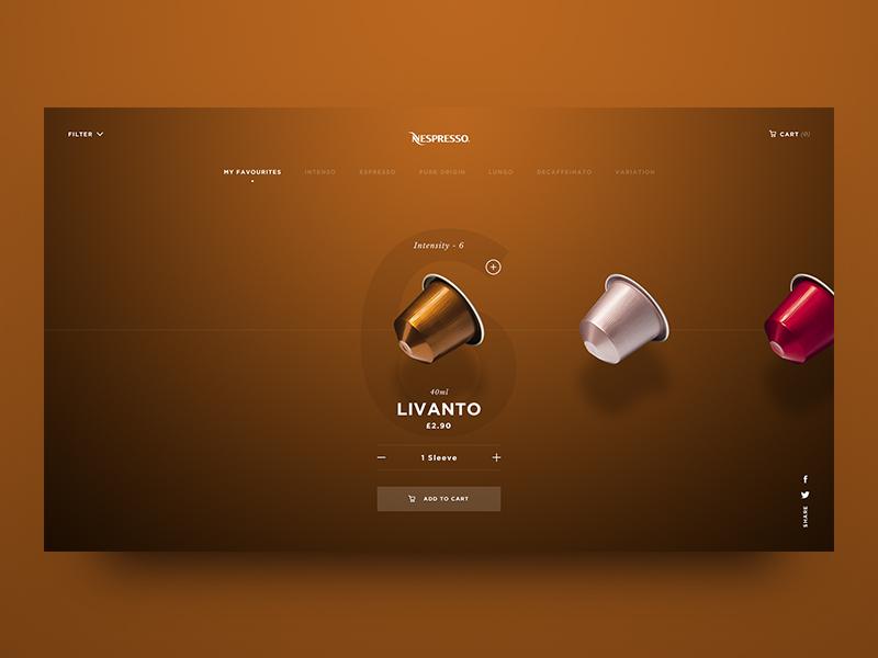Nespresso favourites dribbble