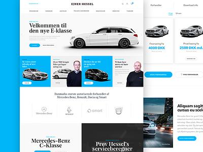 Just playing around cars flatdesign responsive website ecommerce
