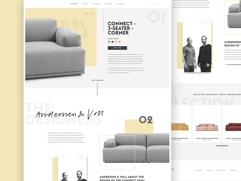Muuto webshop redesign webshop webdesign fashion magento
