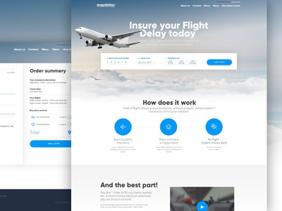Travel site clean website webdesign