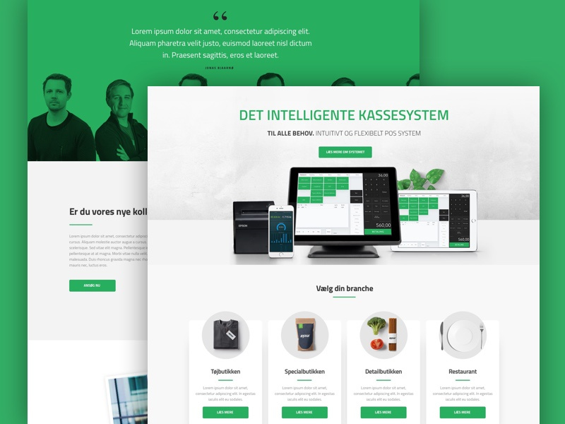 POS system design ux ui clean website webdesign