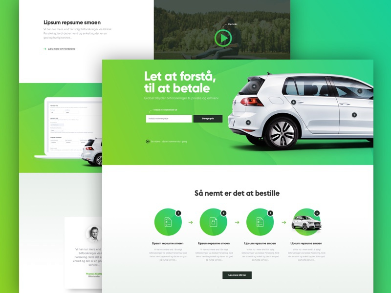 Frontepage design in the making wordpress ux ui clean website webdesign