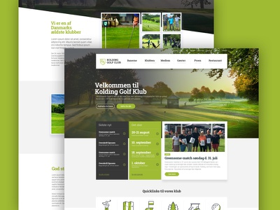 Kolding Golf Club new website wordpress ux ui clean website webdesign
