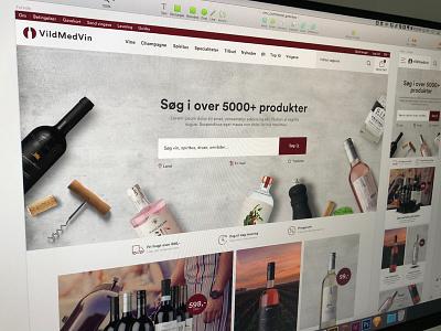 Wine shop design ux ui responsive commerce webdesign design magento