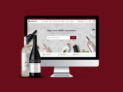Wine shop design commerce webshop clean webdesign design magento