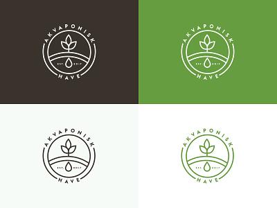 Aquaponic Garden artdirection clean logo logo design