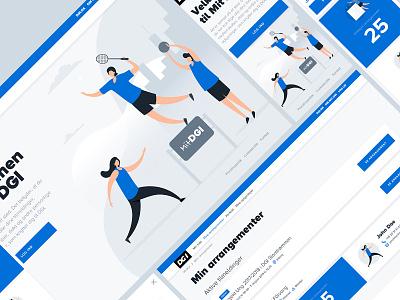 Mit DGI website web responsive pixel design clean ux ui uiux flat flatdesign mobile design webdesign