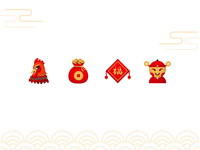 Spring Festival Icon icon money chinese fu rooster festival spring