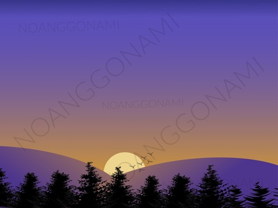 illustration of the atmosphere of the evening twilight at sunset social media promotions digital products sunset the evening twilight at sunset abstract vector ui illustration branding graphic design design background