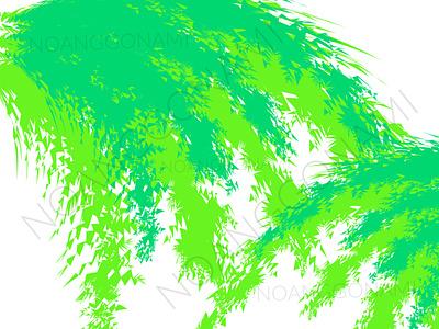 Green bamboo leaf vector Background abstract illustration website social media digital products promotion green bamboo leaf bamboo leaf green ui illustration graphic design design branding background abstract
