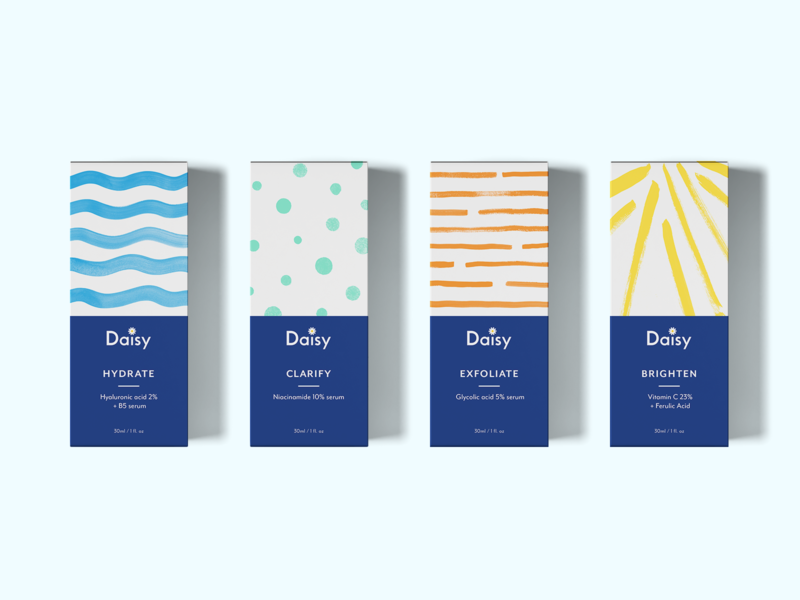 Branding and packaging design for skincare brand