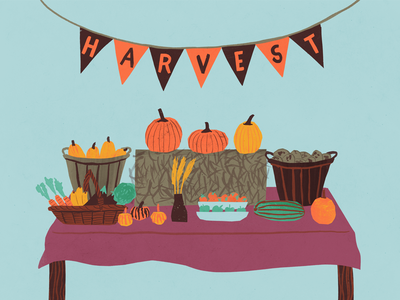Octobercup for Drip for Drip food pumpkin harvest fall autumn illustration