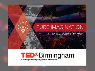 TEDxBirmingham Announcement Card