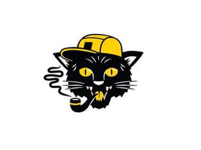 Tom Kat tomcat blackcat style street smoke 420 pipe logo