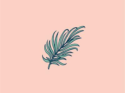 Palm Fron retro nelsonnokela illustration art skate tropical surf palm summer