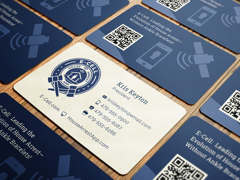 E-Cell House Arrest Business Card & Logo rounded business card house arrest e-cell business card