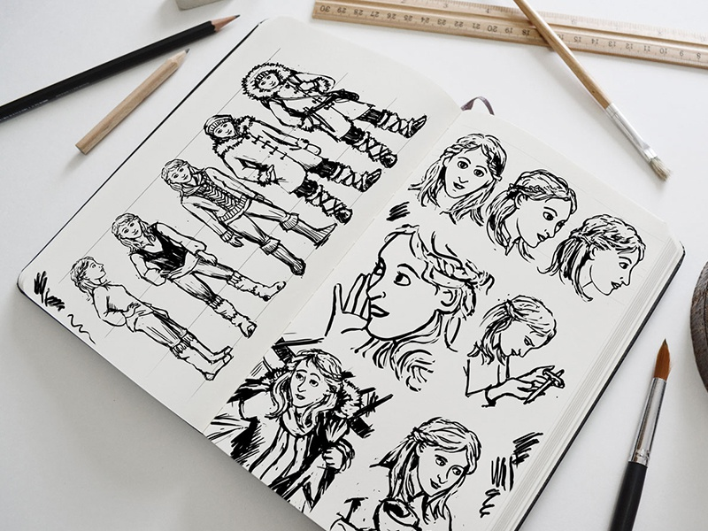 Character Design - Udina  graphic novel character design