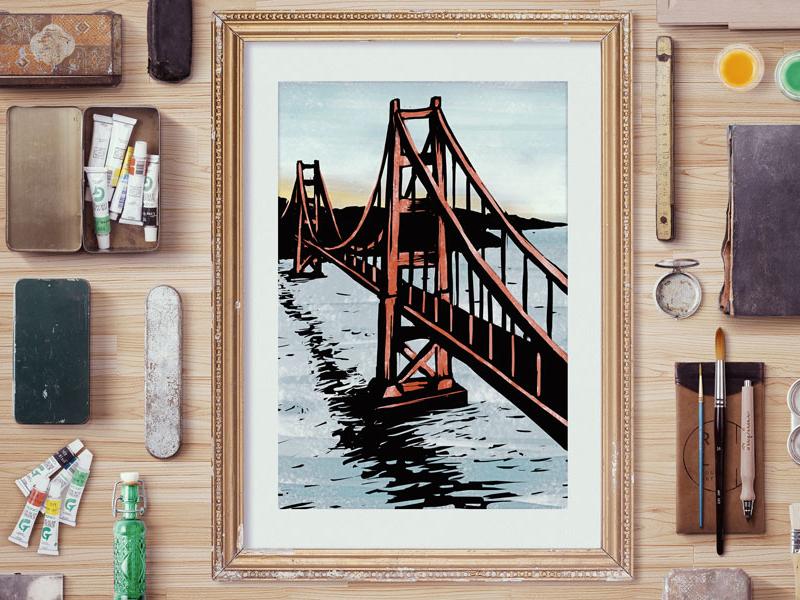Golden Gate Bridge at SunSet bridge bay area golden gate bridge san francisco