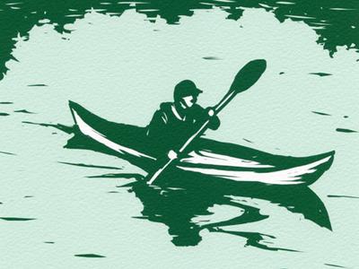 Kayaker Illustration Detail