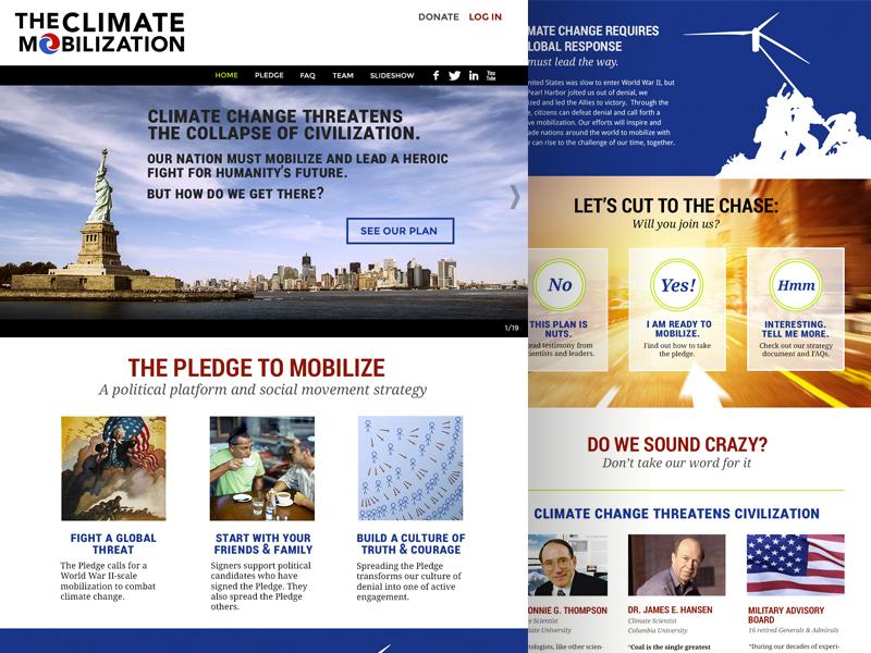 Climate Mobilization Website  tcm the climate mobilization design climate website