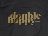 Double Happy / logo on T-shirt