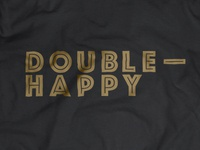 Double Happy / logo on T-shirt option 2