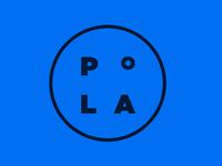 Pola Logo concept - Blue