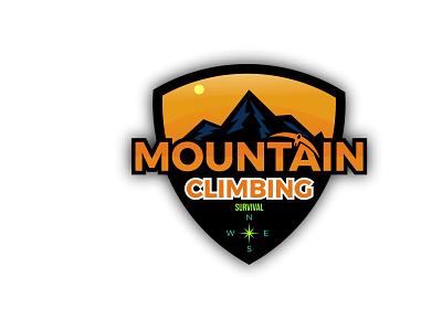 Mountain Climbing Design Concept ux vector ui logo illustration icon graphic design design branding animation