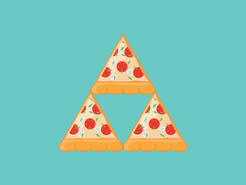 Tri-Pizza [+Wallpaper] wallpaper pizza zelda tri-froce art illustration