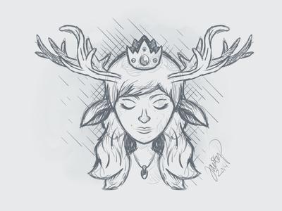 Deer Princess art illustration sketchbookpro deer princess sketch