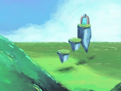 P O R T A L landscape painting digital art