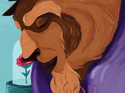Prince Adam art illustration painting disney fan art