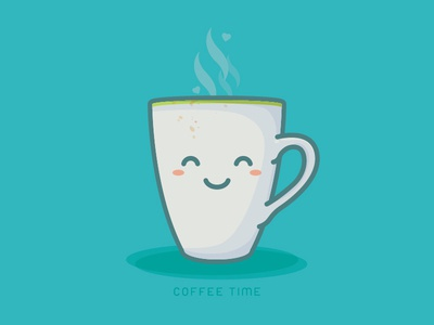 Coffee Time cute night sleeping sleep illustrator art vector cup coffee