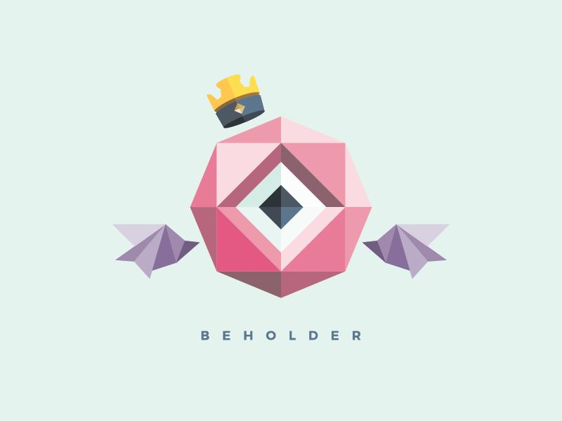 Beholder brand minimal monster btanding logo