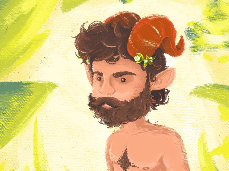Satyr digital satyr portrait sketch illustration art