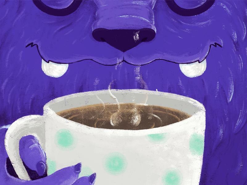 C O F F E E ~ ☕️ coffee digital portrait sketch illustration art